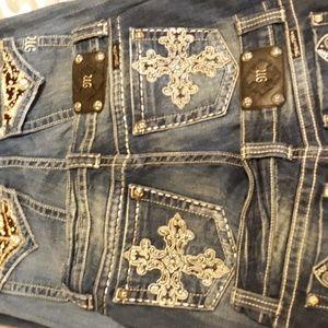 4 Pair Size 29 Miss Me Jeans Excellent Condition